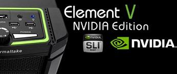 Element V NVIDIA Edition lo nuevo de Thermaltake