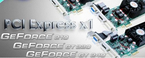 Sparkle lanza sus nuevas GeForce 210, GT220 y GT240 PCI Express x1