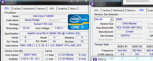 Intel Core i7 2600K llevado hasta los 5 GHz