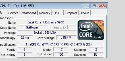Testeado un Intel Core i7 Extreme 990X