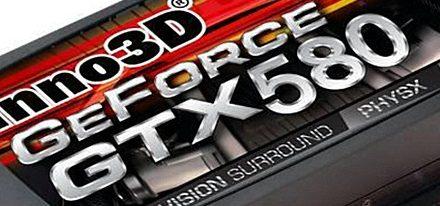 Filtrada imagen de una GeForce GTX 580 de Inno3D