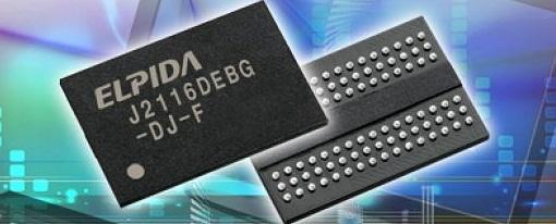 Elpida envia muestras de sus memorias de 2 Gigabit DDR3 SDRAM para electrodomesticos