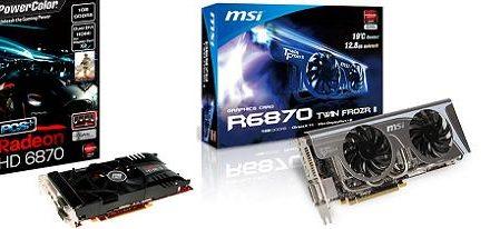 Dos Radeon's HD 6870 con disipadores personalizados de MSI y PowerColor