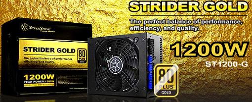 Nuevas fuentes Strider Gold con certificacion 80Plus Gold de SilverStone