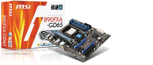 MSI 890FXA-GD65, compatible con AM3 y Bulldozer