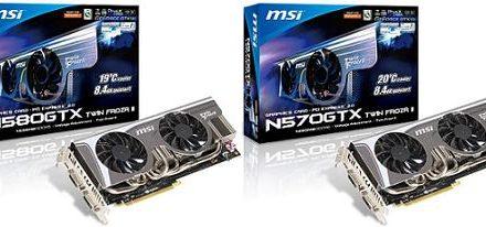 MSI anuncia sus nuevas N500GTX Twin Frozr II