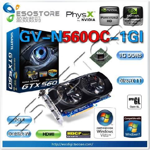 Gigabyte GeForce GTX 560 Ti GV-N560OC-1GI
