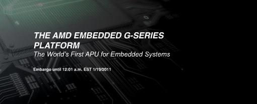 AMD ofrece su APU G-Series para sistemas embebidos
