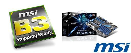 MSI anuncia dos de sus tarjetas madres ya con el chipset B3