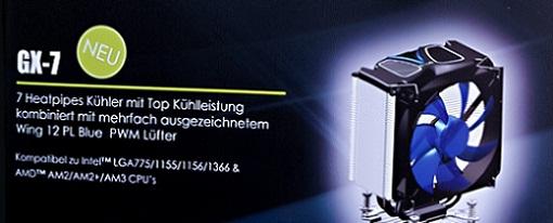Gelid mostró su CPU Cooler GX-7 en la CeBIT 2011