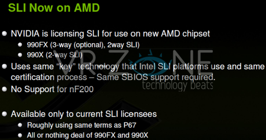 Diapositiva 'SLI now on AMD'