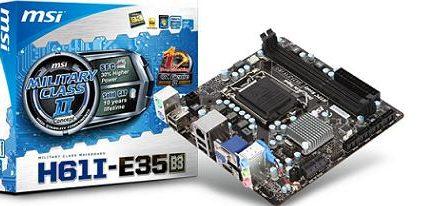 Tarjeta madre H61I-E35 de MSI