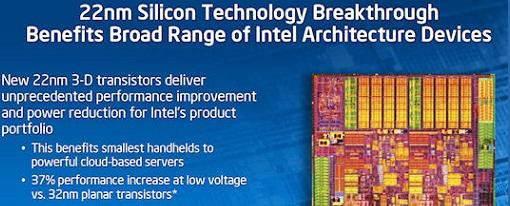 Intel anuncia su tecnología 3-D Tri-Gate