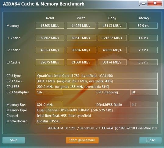 Patriot Sector 5 - 1600 MHz CL 7 - Aida64