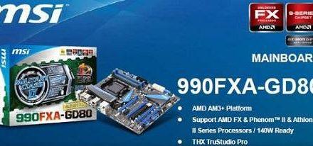 Imagenes y detalles de la tarjeta madre 990FXA-GD80 de MSI