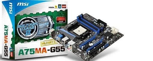 MSI lanza su tarjeta madre A75MA-G55
