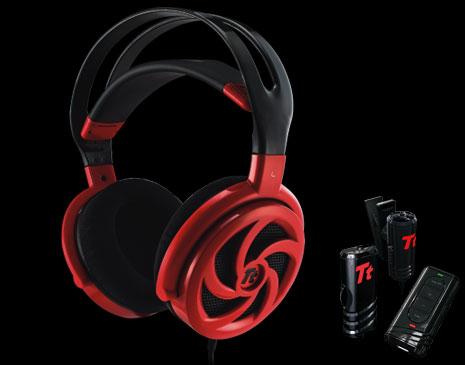 Audifonos SHOCK 'SPIN' HD de Tt eSPORTS -Red
