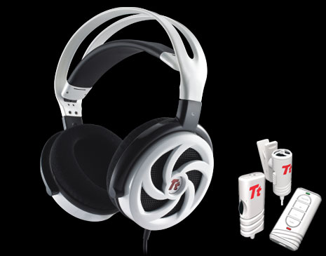 Audifonos SHOCK 'SPIN' HD de Tt eSPORTS -White