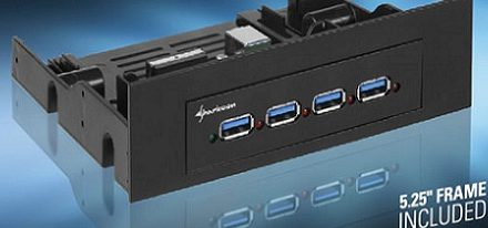 Sharkoon lanza su hub interno USB 3.0 para bahias de 3.5″ & 5.25″