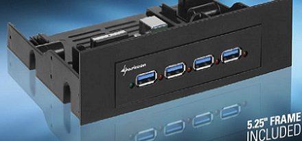 Sharkoon lanza su hub interno USB 3.0 para bahias de 3.5″ & 5.25″