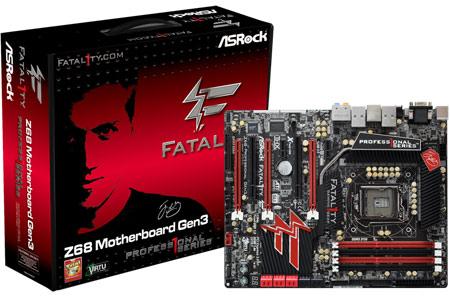 Tarjeta madre Fatal1ty Z68 Professional Gen3 de ASRock