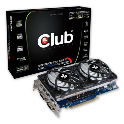GeForce GTX 560Ti CoolStream OC Edition de Club3D