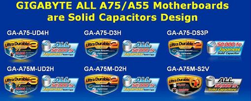 Gigabyte anuncio toda su artillera de placas para las APUs AMD Llano