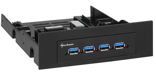 Hub interno 4 Puertos USB 3.0 3.5-5.25 de Sharkoon