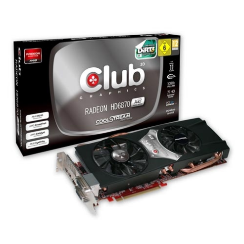 Radeon HD 6870 Dual GPU de Club 3D