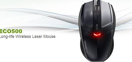 Gigabyte presenta su mouse inalámbrico ECO500