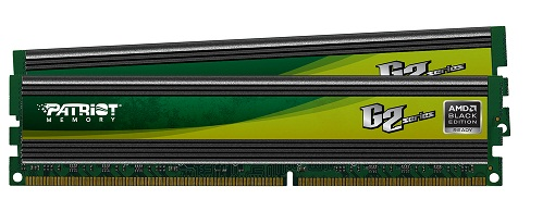 Patriot presentó sus memorias DDR3 G2 Series AMD Black Edition