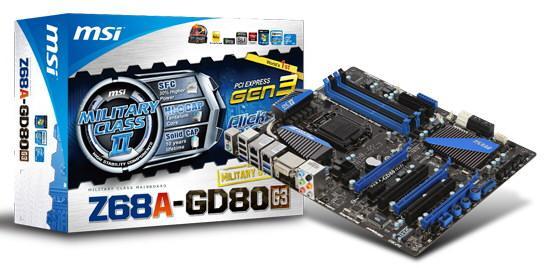 Tarjeta madre Z68A-GD80 (G3) de MSI