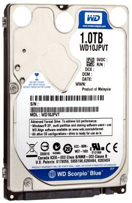 Western Digital Scorpio Blue 1TB