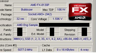 AMD 'Bulldozer' FX-8130P overclockeado a 5.1GHz