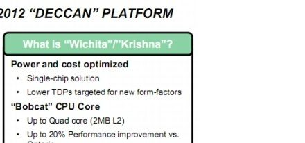 Mas información acerca de la plataforma Deccan de AMD