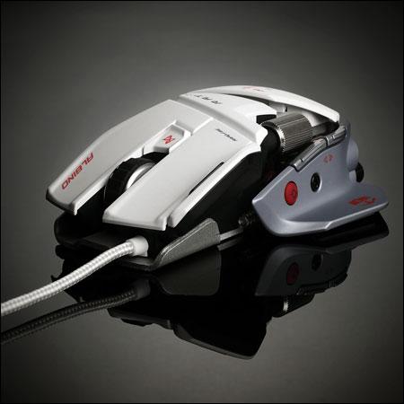 Mouse gaming Cyborg R.A.T.7 Albino de Mad Catz