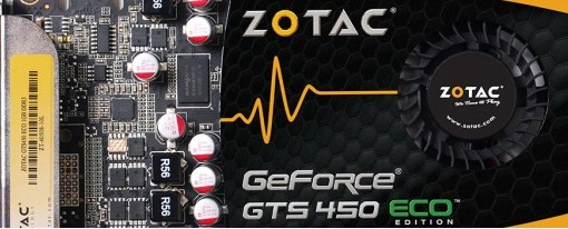 Zotac presenta su GeForce GTS 450 ECO Edition