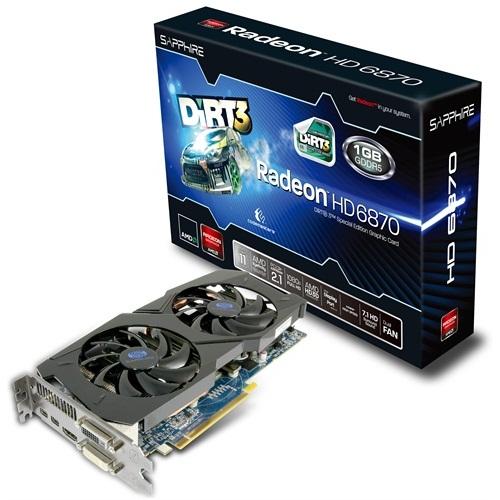 Tarjeta de video HD 6870 1G GDDR5 Dirt3 Edition de Sapphire