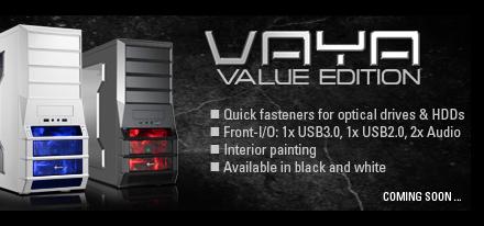 Sharkoon lanzó su case Mid-tower Vaya Value Edition