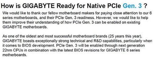 Gigabyte le responde a MSI por sus acusasiones acerca del soporte PCIe Gen 3
