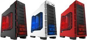 Case's Seiran Black - White - Red de Raidmax