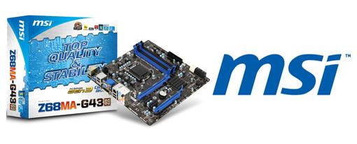 MSI Anuncia la Z68MA-G43 (G3) PCI-Express Gen. 3 Ready mATX