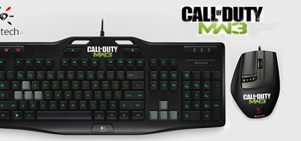 Teclado G105 y ratón G9X Call of Duty: Modern Warfare 3 de Logitech