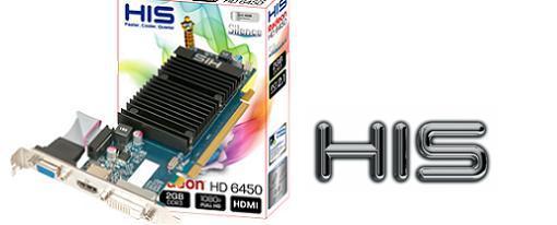 HIS lanza su Radeon HD 6450 2GB de bajo perfil