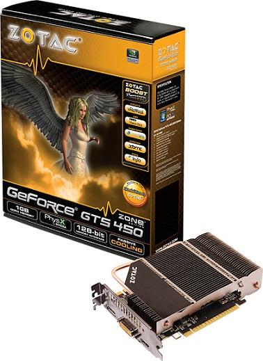 Tarjeta de video GeForce GTS 450 ZONE Edition de ZOTAC