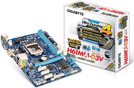 Tarjeta madre GA-H61MA-D3V (rev. 2.0) de Gigabyte