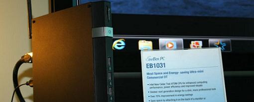 Asus mostró su nettop Eee Box EB1031 impulsado por un CPU Intel Cedar Trail