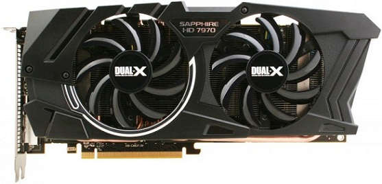 Tarjeta de video HD 7970 Dual-X OC Edition de Sapphire
