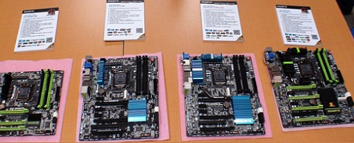 Cuatro tarjetas madres Z77 de Gigabyte