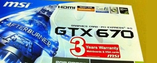 Filtradas imágenes de la GeForce GTX 670 OC Edition de MSI